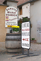 Winery shop. Domaine Michel Voarick. Aloxe-Corton village, Cote de Beaune, d'Or, Burgundy, France