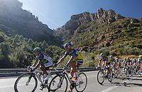 Nairo Alexander Quintana (l) and Alberto Contador lead the peloton during the stage of La Vuelta 2012 between Andorra  and Barcelona.August 26,2012. (ALTERPHOTOS/Paola Otero) /NortePhoto.com<br /> <br /> **CREDITO*OBLIGATORIO** <br /> *No*Venta*A*Terceros*<br /> *No*Sale*So*third*<br /> *** No*Se*Permite*Hacer*Archivo**<br /> *No*Sale*So*third*