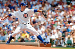 1 July 2005: Mark Prior, starting pitcher for the Chicago Cubs, on the mound in a game against the Washington Nationals. The visiting Nationals defeated the Cubs 4-3 at Wrigley Field in Chicago.  Mandatory Photo Credit: Ed Wolfstein