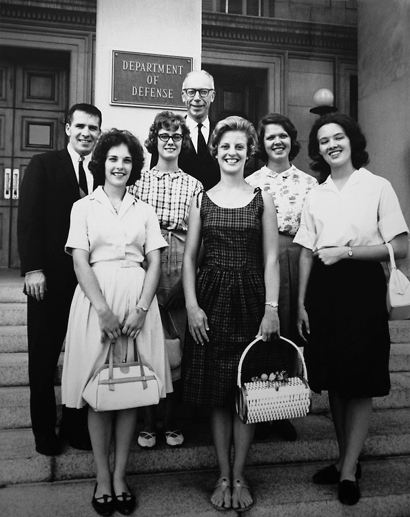 Rep. Ken Hechler, D-W.Va. with staff members. July 21, 1964. (Photo by CQ Roll Call)