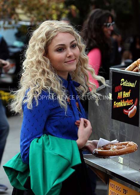 WWW.ACEPIXS.COM....October 17, 2012...New York City.......AnnaSophia Robb on the set of the TV Show 'The Carrie Diaries' in Chelsea on October 17, 2012 in New York City ....By Line: Zelig Shaul/ACE Pictures......ACE Pictures, Inc...tel: 646 769 0430..Email: info@acepixs.com..www.acepixs.com