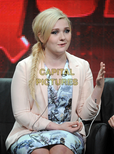 BEVERLY HILLS, CA - AUGUST 6: Abigail Breslin onstage at the 'Scream Queens' panel during the 2015 FOX Summer TCA tour at the Beverly Hilton Hotel on August 6, 2015 in Beverly Hills, California. <br /> CAP/MPI/PGFM<br /> &copy;PGFM/MPI/Capital Pictures