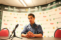 09-02-13, Tennis, Rotterdam, qualification ABNAMROWTT, Fabian van der Lans during the press conference.