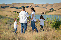 Benicia Community Park with Lake Herman View Family Photography Spontaneous location family portraits.  Schedule a place and time with me to capture the spirit of your family in a location you call home.
