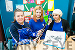 Shannon Hanafin, Fionnghuala Miller and Eisha Ghani from St. Brigid;s Presentation killarney with their project Ultra sound navigation stick for the blind at SciFest 2016 on Thursday at ITT North Campus, 8th Science and Technology competition for 2nd level schools