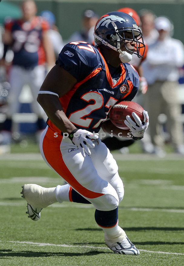 KNOWSON MORENO,of the Denver Broncos , in actions during the Broncos  game against the Cincinnati Bengals  on September 13, 2009 in Cincinnati, OH  The Broncos beat the Bengals 12-7.