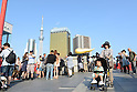 May 27, 2012, Tokyo, Japan - Many visitors crowd the newly opened Tokyo Skytree on Sunday, May 27, 2012. Tokyo Skytree, the world's tallest broadcasting tower, and surrounding facilities had 564,000 visitors in its first weekend since opening last week. The good weather on both days helped push the figure above the initial forecast of about 400,000 visitors. (Photo by AFLO) -ty-