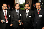 From left: Ali Al-Swat, Jamal Al-Mulhem, Hussain Bin Ali Al-Balushi, Ziyad A. Al-Swaidan at the World Energy Cities Partnership reception at the Hotel ZaZa Tuesday May 1,2012. (Dave Rossman Photo)
