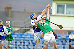 Aiden Boyle Ballyduff v Eoin McCarthy Saint Brendans on the Semi finals of the County Senior Hurling County Championship at Austin Stack Park, Tralee, on Sunday.