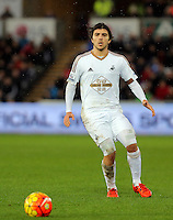 Alberto Paloschi of Swansea during the Barclays Premier League match between Swansea City and Crystal Palace at the Liberty Stadium, Swansea on February 06 2016