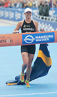 31 AUG 2007 - HAMBURG, GER - Lisa Norden (SWE) - Under 23 Womens World Triathlon Championships. (PHOTO (C) NIGEL FARROW)