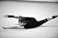 Viktoria Shynkarenko of Ukraine performs with clubs during training at 2011 Holon Grand Prix at Holon, Israel on March 3, 2011.  (Photo by Tom Theobald)  Photo id:  497shynkarenko-holon20110303ukr300.
