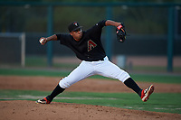 AZL D-backs relief pitcher Eric Mendez (29) during an Arizona League game against the AZL Mariners on July 3, 2019 at Salt River Fields at Talking Stick in Scottsdale, Arizona. The AZL D-backs defeated the AZL Mariners 3-1. (Zachary Lucy/Four Seam Images)