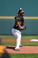 Pittsburgh Pirates pitcher Francisco Liriano (47) during a Spring Training game against the New York Yankees on March 5, 2015 at McKechnie Field in Bradenton, Florida.  New York defeated Pittsburgh 2-1.  (Mike Janes/Four Seam Images)
