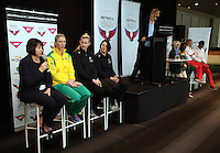 25.08.2016 The launch of the Netball Quad Series starting this weekend at Vector Arena in Auckland . Mandatory Photo Credit ©Michael Bradley.