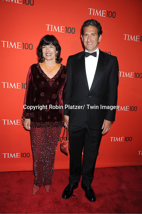 Christiane Amanpour and husband James Rubin attending The Time 100 Most Influential People in the World Gala on April 26, 2011 at Frederick P Rose Hall in The Time Warner Center in New York City.
