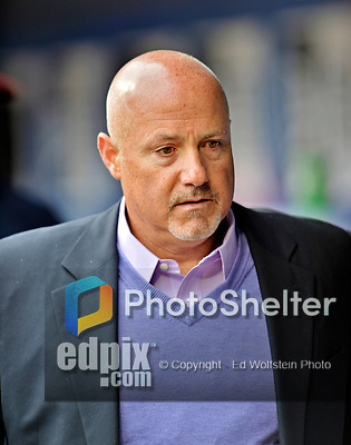 11 April 2012: Washington Nationals General Manager Mike Rizzo returns to the clubhouse after a game against the New York Mets at Citi Field in Flushing, New York. The Nationals shut out the Mets 4-0 to take the rubber match of their 3-game series. Mandatory Credit: Ed Wolfstein Photo
