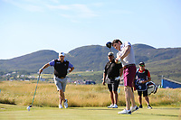 Michael Smurfit JNR playing with Darren Clarke (NIR) during the ProAm of the 2018 Dubai Duty Free Irish Open, Ballyliffin Golf Club, Ballyliffin, Co Donegal, Ireland.<br /> Picture: Golffile | Jenny Matthews<br /> <br /> <br /> All photo usage must carry mandatory copyright credit (&copy; Golffile | Jenny Matthews)