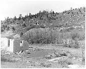 Calumet Mine remains in Perins City, CO with ties of RGS Calumet branch line.<br /> RGS  Perins City, CO  Taken by Payne, Andy M. - 5/26/1968
