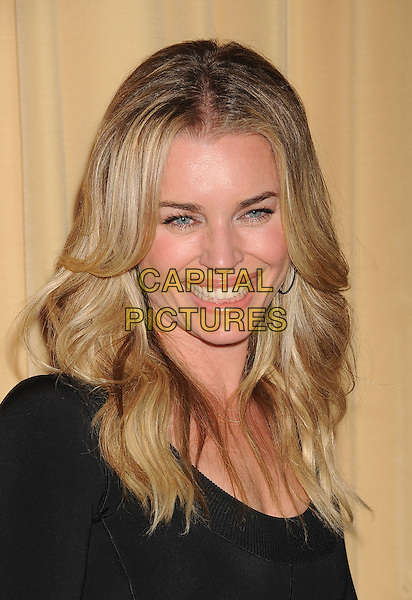Rebecca Romijn.Forevermark and In Style 'A Promise of Beauty and Brilliance' held at The Beverly Hills Hotel in Beverly Hills, California, USA..January 10th, 2012.headshot portrait black smiling .CAP/ROT/TM.©Tony Michaels/Roth Stock/Capital Pictures