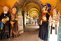 Mojigangas,giant mexican papier mache puppets in the Bellas Artes, San Miguel de Allende, Mexico.