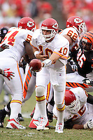 Chiefs quarterback Trent Green in action against the Bengals at Arrowhead Stadium in Kansas City, Missouri on September 10, 2006. Cincinnati won 23-10.