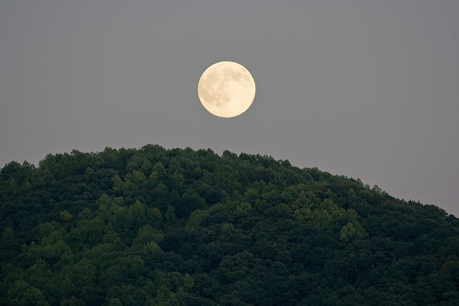 Moon rising over Mountain top in Nelson County. Photo/Andrew Shurtleff
