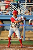 August 3rd 2008:  Steve Susdorf of the Williamsport Crosscutters, Class-A affiliate of the Philadelphia Phillies, during a game at Dwyer Stadium in Batavia, NY.  Photo by:  Mike Janes/Four Seam Images