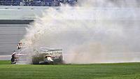 Reed Sorenson crashes late in the Daytona 500, Daytona INternational Speedway, February 23, 2014. (Photo by Brian Cleary/www.bcpix.com))