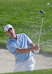 August 4, 2012:  Kevin Kisner from Aiken, SC chips out of a bunker during the third round of the 2012 Reno-Tahoe Open Golf Tournament at Montreux Golf & Country Club in Reno, Nevada.