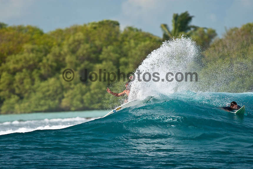 NICOLAU VON RUPP (PRT)  on a surfing safari boat trip through the South Male and North Male Atolls, Maldives (Tuesday, June 16th, 2009). Photo: joliphotos.com