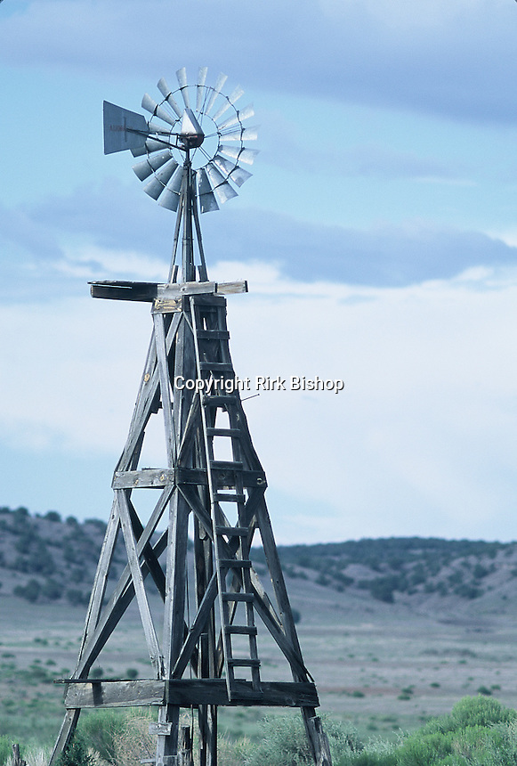 Wood windmill seen in southern Arizona
