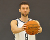 Brooklyn Nets No. 9 Andrea Bargnani poses for portraits during Media Day held at the team's practice center in East Rutherford, New Jersey on Monday, September 28, 2015.<br /> <br /> James Escher