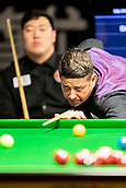 30th January 2019, Berlin, Germany;  Matthew Stevens (r), snooker player from Wales, plays against Yan Bingtao from China at the German Masters 2019.