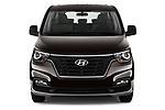 Car photography straight front view of a 2019 Hyundai H1-People Executive 5 Door Mini Van