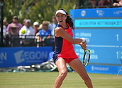 June 17th 2017, Nottingham, England;WTA Aegon Nottingham Open Tennis Tournament day 6;  Johanna Konta of Great Britain waits to hit a backhand in the semi final against Magdalena Rybarikova of The Slovak Republic