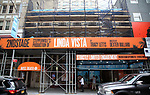 "Theatre Marquee unveiling for ""Linda Vista"" on September 11, 2019 at the Hayes Theatre in New York City."