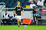 Solna 2014-07-24 Fotboll Europa League AIK - Linfield FC :  <br /> AIK:s Anton Sal&eacute;tros Saletros i aktion <br /> (Foto: Kenta J&ouml;nsson) Nyckelord:  AIK Gnaget Friends Arena Linfield LFC Europa League Kval portr&auml;tt portrait