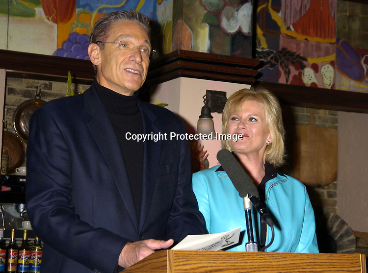 Maury Povich and Judi Evans ..at The Announcements of the 32nd Annual Daytime Emmy ..Award's Nominations on March 2, 2005 at Guiding Light Stages in New York City...Photo by Robin Platzer, Twin Images