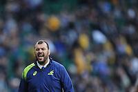 Michael Cheika, Australia Head Coach, during the warm up before the Rugby World Cup Final between New Zealand and Australia - 31/10/2015 - Twickenham Stadium, London<br /> Mandatory Credit: Rob Munro/Stewart Communications