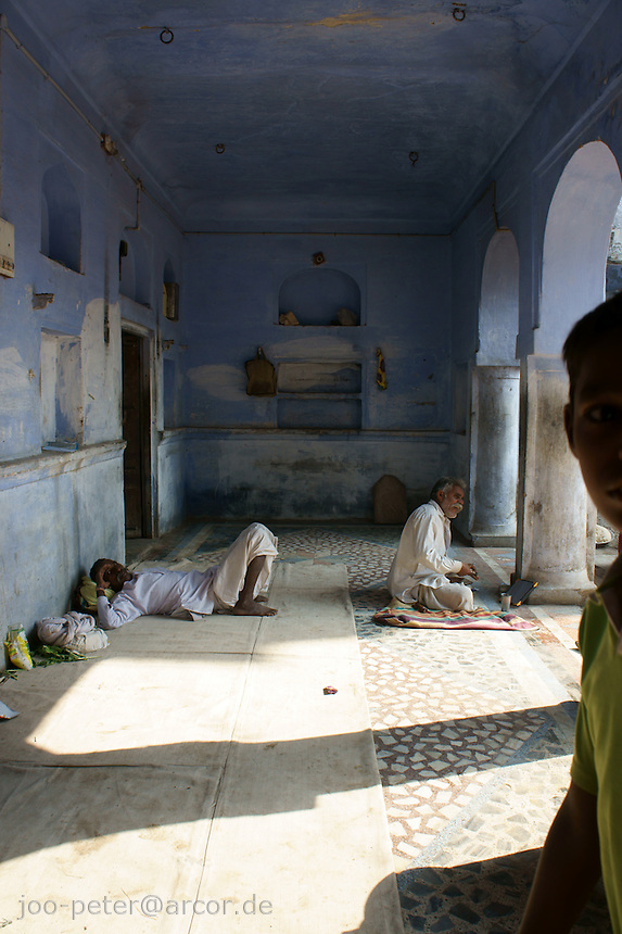 dharamshala, pilgrimage shelter in  holy city Pushkar, Rajastan, India