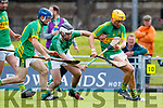 Jack Goulding Ballyduff in action against John Griffin Lixnaw in the Senior County Hurling Final in Austin Stack Park on Sunday