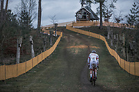 Race Leader Mathieu Van Der Poel (NED/Beobank Corendon)<br /> <br /> Elite Men's Race<br /> UCI CX World Cup Zolder / Belgium 2017