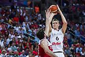 7th September 2017, Fenerbahce Arena, Istanbul, Turkey; FIBA Eurobasket Group D; Latvia versus Turkey; Power Forward Kristaps Porzingis #6 of Latvia shoots on the basket