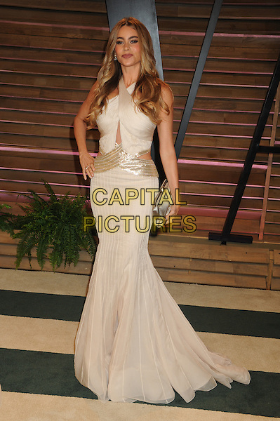 WEST HOLLYWOOD, CA - MARCH 2: Sofia Vergara at the 2014 Vanity Fair Oscar Party in West Hollywood, California on March 2, 2014. <br /> CAP/MPI/mpi20<br /> &copy;mpi01/MediaPunch/Capital Pictures