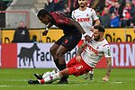 30.11.2019, Rheinenergiestadion, Köln, GER, DFL, 1. BL, 1. FC Koeln vs FC Augsburg, DFL regulations prohibit any use of photographs as image sequences and/or quasi-video<br /> <br /> im Bild Marco Höger / Hoeger (#6, 1.FC Köln / Koeln) foult Sergio Cordova (#9, FC Augsburg) <br /> <br /> Foto © nordphoto/Mauelshagen