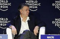 MEDELLÍN - COLOMBIA, 16-06-2016: Juan Manuel Santos, Presidente de Colombia, durante la reunión anual del Foro Económico Mundial (WEF) en Medellin, Colombia. / Juan Manuel Santos, Colombia's President, during World Economic Forum (WEF) anual meeting in Medellin, Colombia.  VizzorImage/ León Monsalve /Str