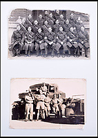 BNPS.co.uk (01202 558833)Pic: C&amp;TAuctions/BNPS<br /> <br /> Lieutenant James Riccomini MBE pictured with the Royal Army Corps in England (top) and in Eygpt.<br /> <br /> The remarkable story of an SAS hero who escaped captivity by jumping out of a moving train and carried out daring raids behind enemy lines before he was killed storming a German stronghold can be told after his bravery medals emerged for sale.<br /> <br /> After escaping his German captors, Lieutenant James Riccomini MBE spent four months assisting Italian resistance fighters with ammunition drops and intelligence gathering before scaling the Alps to reach neutral Switzerland when his cover was blown.<br /> <br /> Ten months later, he was dropped behind enemy lines and led a fearless ambush of a German armoured column before he was killed in action heading up an assault during the legendary Operation Tombola.<br /> <br /> His MBE, Military Cross and other medals along with letters he wrote to his wife, documents and photos are tipped to sell for &pound;12,000.