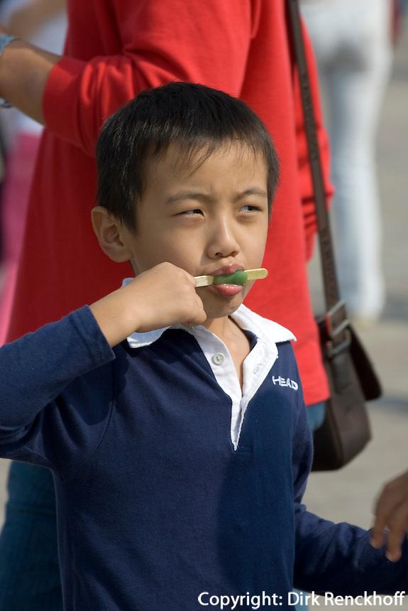 China, Peking, auf dem Tian An Men-Platz