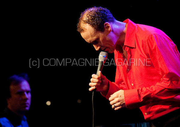 Jazz vocalist David Linx and the Diederik Wissels Quartet in concert at the Theater Aan Zee festival in Ostend (Belgium, 06/08/2010)